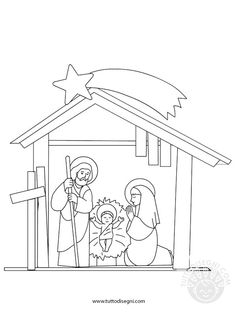 Nativity Coloring Pages, Christmas Coloring Pages, Christmas Colors, All Things Christmas, Christmas Crafts, Christmas Party Games, Christmas Activities, Coloring Sheets, Coloring Books