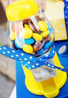 minion candy table | Despicable Me Minion Playdate Party via Kara's Party Ideas #minions # ...