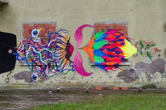Basik x Zamoc x Gola New Mural - Rimini, Italy Urban Art, Rimini Italy, Murals, Collaboration, Painting, Detail, Street Art, Wall Murals, Painting Art