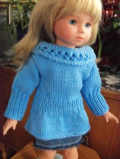 Ravelry: Tunic for American Girl Dolls pattern by Janet Longaphie