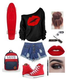 """""""Untitled #19"""" by lets-run-to-the-sea on Polyvore featuring Converse, Barry M, Lime Crime and Vans"""