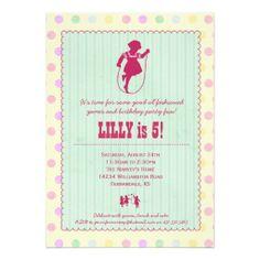 Futuristic fun 5x7 dance party invitation party invitations and playtime fun vintage party invitation girl stopboris Gallery