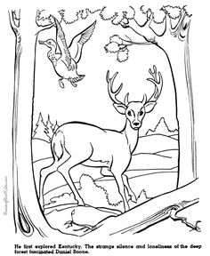 Daniel Boone history coloring page 028