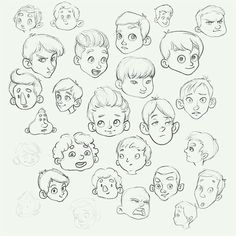 Sketching different kids faces 🙂