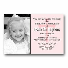 Personalised Invitations Invites 1st First Holy Communion H120 - Add a photo | eBay