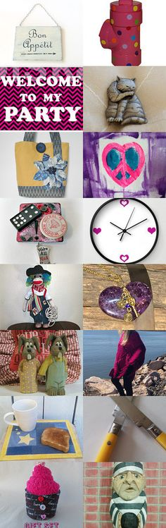 Welcome to my Party - but please follow the rules! by Marianne on Etsy--Pinned with TreasuryPin.com