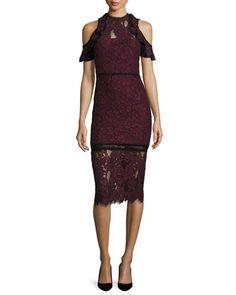 517c0118e633 Alexis Evie Cold-Shoulder Lace Sheath Dress