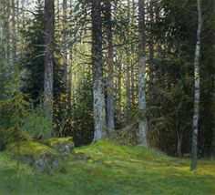 October Forest by Sergei Oussik. Paper, pastel, 49 x 55, 2007
