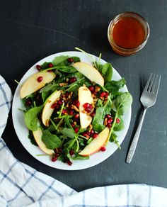 Baby Greens, Apple, Pom Salad by Dianna Sinni, RD of Chard in Charge