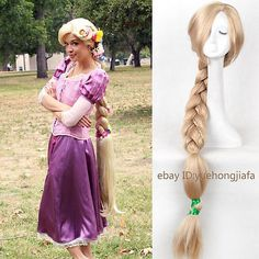 Tangled-Rapunzel-wig-Long-Blonde-Handcraft-Braid-Cosplay-wig-Women-Free-Net