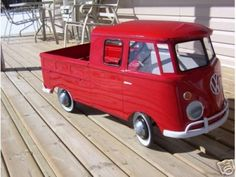 Vintage VW Bus Pedal Car. Obsessed, must have.