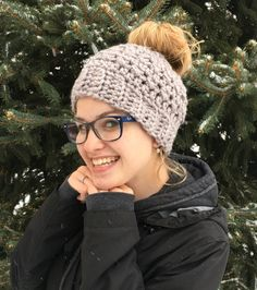 Bun Hat - Messy Bun Hat -  Ponytail Hat - Pony Tail Hat - Crochet Bun Hat - Running Hat - Gift for Runner - Crochet Ponytail Hat by MadeWithATwist on Etsy https://www.etsy.com/listing/497453141/bun-hat-messy-bun-hat-ponytail-hat-pony SURPRISE COLOR