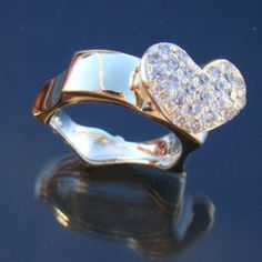 Heart Ring Engagement Ring silver ring silver heart by arwcreation, $125.00 www.arwerner.com