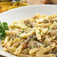 Penne Senese: pasta with a prosciutto, italian sausage, and mushroom sauce. Pasta Dishes, Food Dishes, Main Dishes, Italian Dishes, Italian Recipes, Pasta Recipes, Cooking Recipes, Dishes Recipes, Olive Garden Recipes