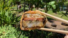 The Maui restaurant has a new fast-casual spot at Kakaako's UH Medical School Deep-fried Spam musubi is THE signature item at Da Kitchen in Kahului, Maui. Korean Braised Short Ribs, Kalbi Ribs, Fried Spam, Ahi Tuna Poke, Portuguese Sausage, Chicken Katsu Curry, Maui Restaurants, Spam Musubi, Loco Moco