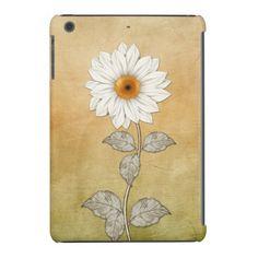 Vintage Sunflower on Pastel Gradient iPad Mini #sunflowers #vintage #ipadmini