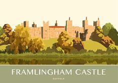 Framlingham Castle. Available as an art print from £12