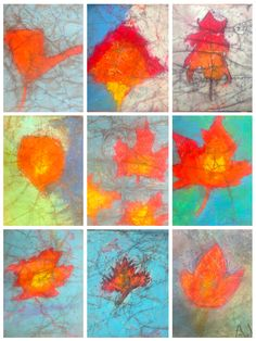 batik with oil pastels