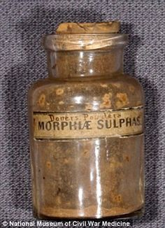 """A commonly sold """"medicine"""" which was advertised to cure just about any ill, but which had nearly no medicinal quality, and often contained large quantities of opium and ipecac. Antique Bottles, Old Bottles, Vintage Bottles, Glass Bottles, Antique Glass, Vintage Advertisements, Vintage Ads, Old Medicine Bottles, Medical History"""