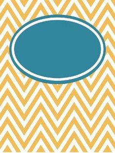 FREE Editable Chevron Binder Covers--lots of colors for organizing :).