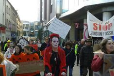 Marchers were raising awareness about how much local bodies have invested in fossil fuels