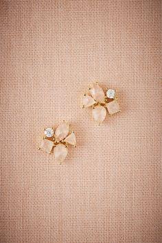 Gold Blushing Petal Earrings | BHLDN