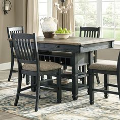 Signature Design by Ashley Tyler Creek Counter Height Dining Table Dining Table Makeover, Counter Height Dining Room Tables, Counter Height Dining Sets, Counter Height Dining Table, Dining Furniture, Kitchen Table Settings, Dining Room Table, Kitchen Table Makeover, Budget Kitchen Remodel