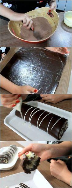ROCAMBOLE DE PRESTÍGIO QUE NÃO VAI AO FORNO ❤️ VEJA AQUI>>>2 xícaras de chocolate 50%(xícara =200ml) Recheio de coco: 1 lata de leite condensado 100g de coco ralado 1 colher de margarina #receita#bolo#torta#doce#sobremesa#aniversario#pudim#mousse#pave#Cheesecake#chocolate#confeitaria