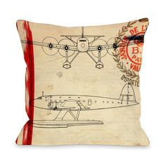 Air Espagne France 1945 // Pillow