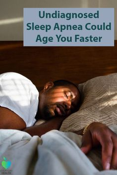 If you think you might have #sleep apnea, you may be #aging yourself faster by not getting an accurate diagnosis.