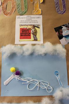PreK- Cloudy with a Chance of Meatballs - Fun activity to help with fine motor control, weather unit, and following direction