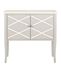 Another great find on #zulily! Gray & White Jolie Sideboard #zulilyfinds
