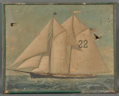 American School, late 19th Century Portrait of a the Pilot Boat Washington. | Sale Number 2744M, Lot Number 618 | Skinner Auctioneers - AND OTHERS