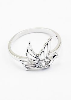 Sigma Kappa sterling silver dove ring