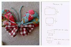 ARTE COM QUIANE - Paps,Moldes,E.V.A,Feltro,Costuras,Fofuchas 3D: molde borboleta de fuxico