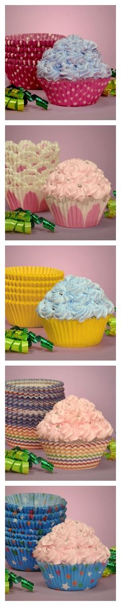 """Cupcake Liners (Repin to Win: Repin any image from our """"Repin to Win"""" board and win one hundred dollars in Paper Mart credit) http://pinterest.com/papermart/repin-to-win/"""