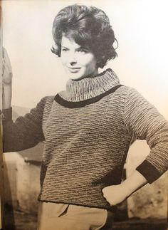 "Vintage Knitting Pattern - Women's Wide Turtleneck Sweater - 1960's original ""Bewitching Magic"" Retro Mod Style (64A10)"
