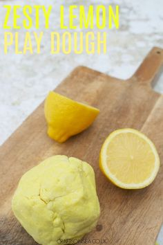 This easy lemon playdough recipe is the perfect sensory play idea for kids. Great for summer on whenever you want a pick up!