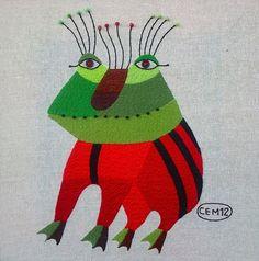 Textile works (30x30sm.) on Behance Ivan Semesyuk embroidery