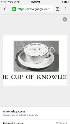 Cup of knowledge