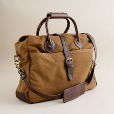 Rugged twill briefcase bag from J. Crew