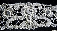 ANTIQUE HAND MADE VENETIAN GROS POINT NEEDLE LACE - 3 PIECES