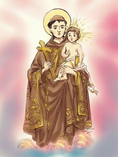 Saint Antony, Catholic Art, Wallpaper, Princess Zelda, Saints, Manga, Fictional Characters, Coaching, Cartoon