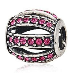 Everbling Leading Lady with Pink Austrian Crystal Authentic 925 Sterling Silver Charm Bead Fits Pandora Chamilia Biagi Troll Charms Europen Style Bracelets  Price : $17.99 http://www.everblingjewelry.com/Everbling-Austrian-Authentic-Sterling-Bracelets/dp/B00EDSQXDS
