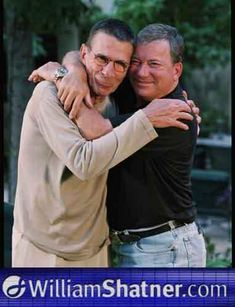 Leonard Nimoy and William Shatner    They're so cute I can't even