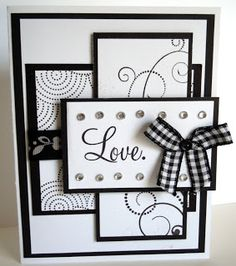 card by Mary Gunn... classy look in black & white