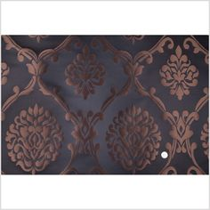 Black/Driftwood Damask Brocade