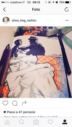 Hype 4 the new/old Spideyon #civilwar   #marvelcomics #small #tribute #to #a #big #artist @chrissamnee #ultimate #run #pencils #watercolours #moleskine #Peter #mj #Jameson #pentelpocketbrush #pentelaquash