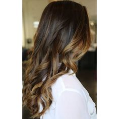 Iced Chocolate Mocha and Caramel Ombre Dark Brown Sombre Balayage Hair... ($235) ❤ liked on Polyvore featuring beauty products, haircare, hair styling tools, bath & beauty, dark olive, hair care and hair extensions