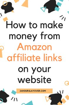 How to make money from Amazon affiliate links on your website Make Money On Amazon, Sell On Amazon, Make Money Online, How To Make Money, Amazon Affiliate Marketing, Online Marketing, What Can I Sell, Competitor Analysis, Online Work